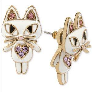 Rare Betsey Johnson Cat Earrings